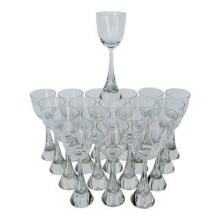 Holmegaard Princess Wine Glasses - Set of 19 For Sale