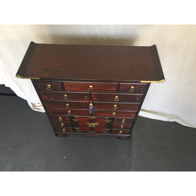 Asian Korean Tansu Apothecary Style Chest For Sale - Image 3 of 9