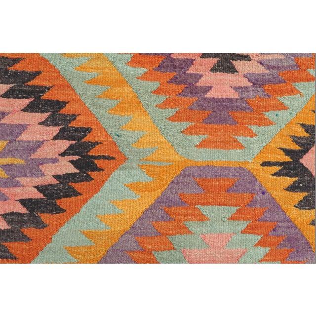 Vintage Turkish Barak Nomad's Flat Weave Rug For Sale - Image 11 of 12