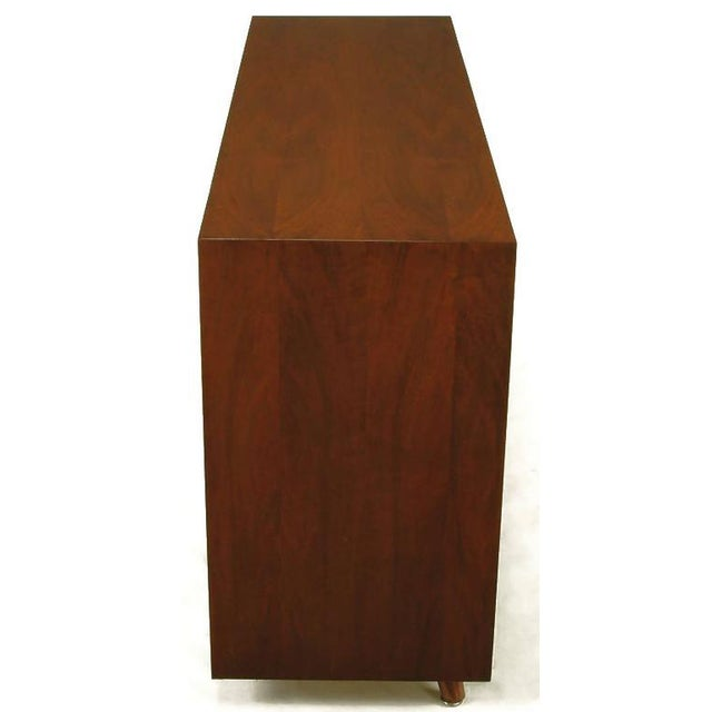 Walnut & Lacquered Linen Front Nine-Drawer Cabinet For Sale In Chicago - Image 6 of 10