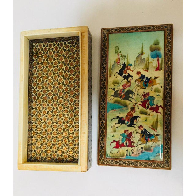 Micro Mosaic Indo Persian Inlaid Jewelry Trinket Box For Sale In Los Angeles - Image 6 of 11