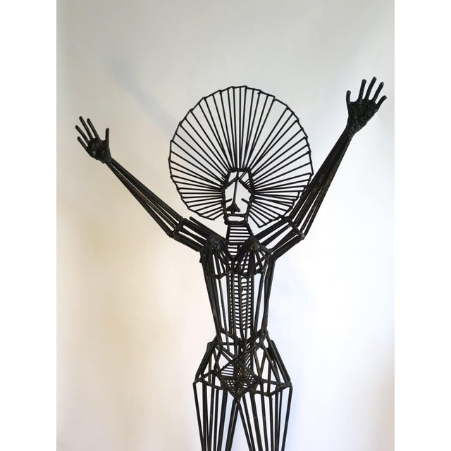 Mid-Century Abstract Figurative Metal Sculpture - Image 3 of 9