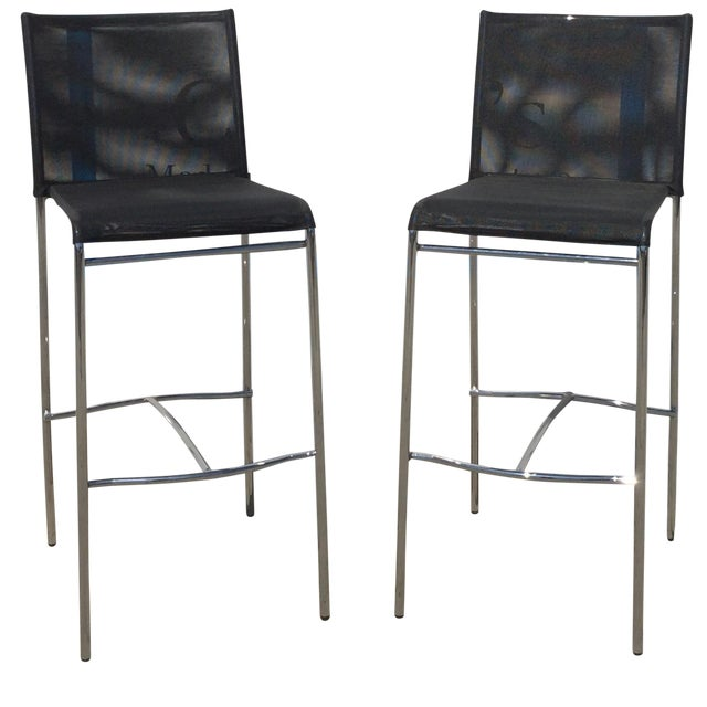 Modern Barstools - Pair - Image 1 of 8