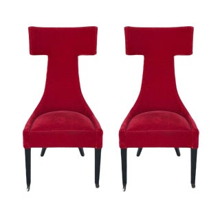 Outstanding Pair of Architectural 1980s Chairs For Sale