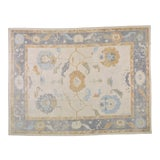 """Image of Turkish Anatolian Oushak Hand Knotted Rug With Natural Colors,10'1""""x13'3"""" For Sale"""