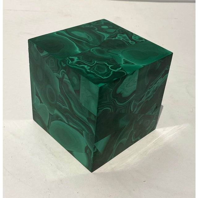 Vintage 4-Inch Malachite Cube For Sale - Image 10 of 10