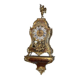 19th Century Antique French Boulle Bracket Clock For Sale