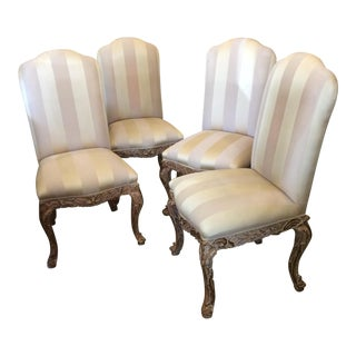 Fully Upholstered Italian Dining Chair - Set of 4 For Sale