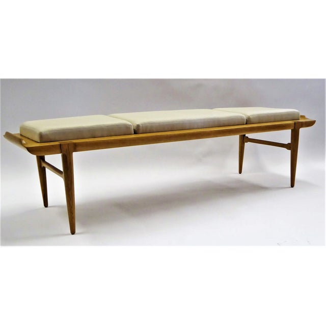 1950s Tomlinson's Sophisticates Line Mid-Century Modern Walnut Bench For Sale - Image 13 of 13