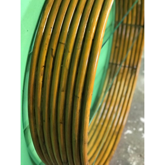 Boho Chic Vintage Mid-Century Paul Frankl Eight Strand Rattan Circular Wall Hanging For Sale - Image 3 of 12