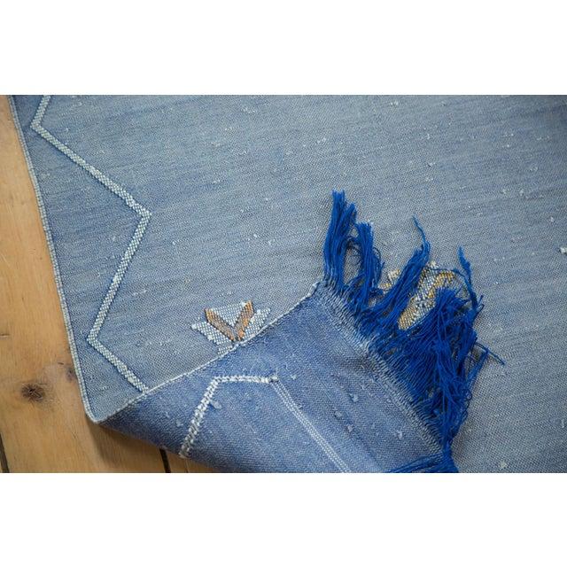 "Denim Blue Kilim Rug Runner - 2'6"" X 8'10"" - Image 7 of 9"