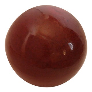 Ceramic Red Garden Orb For Sale