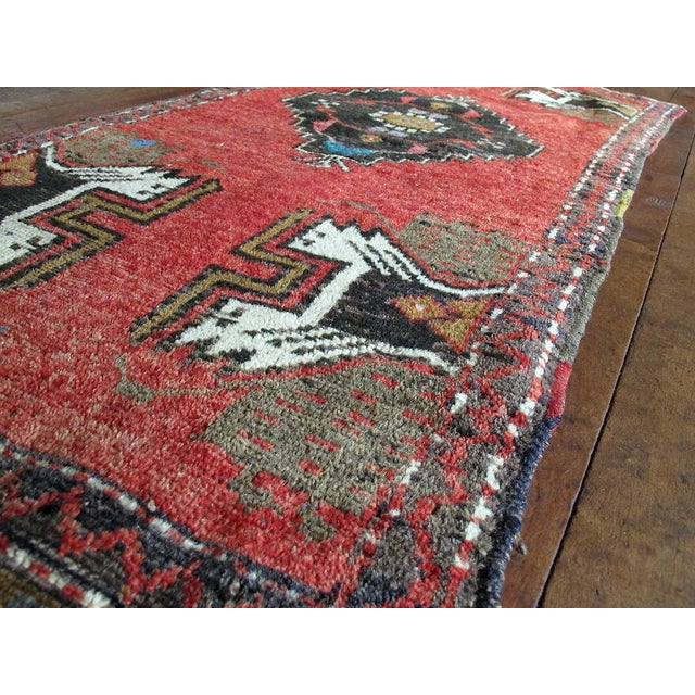 Vintage Turkish Oushak Hand-Knotted Wool Rug - 1' x 4' - Image 3 of 11