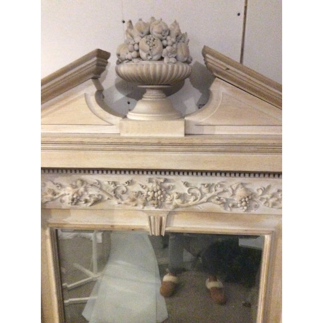 Brown Mid-19th Century Architectural Mirror With Carved Fruit For Sale - Image 8 of 9