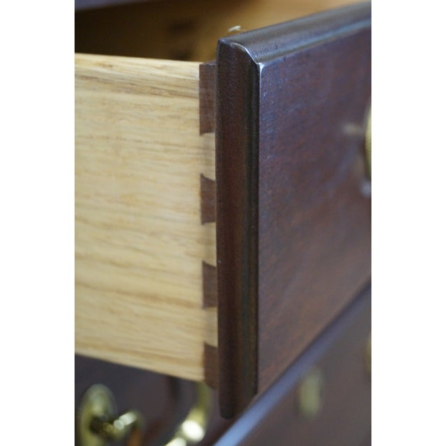 Link Taylor Heirloom Solid Mahogany Chests Nightstands - A Pair For Sale - Image 9 of 10