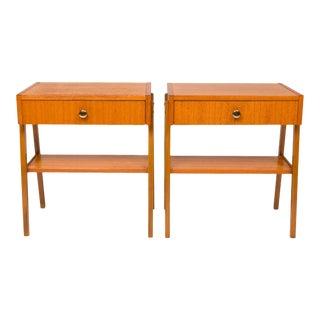 Vintage Danish Mid-Century Teak Nightstand (Pair) For Sale