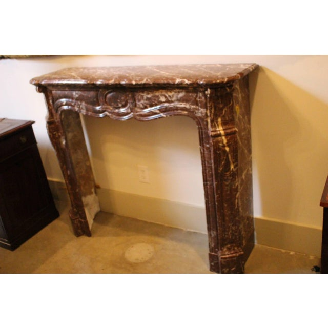 Stone French Louis XV Style Marble Mantel For Sale - Image 7 of 9