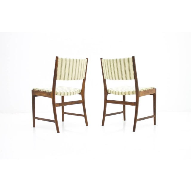 Mid-Century Modern Pair of Side Chairs by Kai Lyngfeldt-Larsen for Søren Willadsen, Denmark, 1960s For Sale - Image 3 of 7