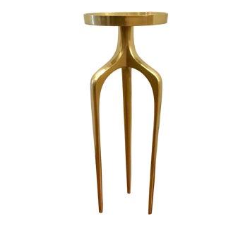 Blakey Modern Brass Side Table
