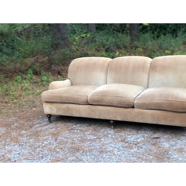 Wood O Henry House Ltd Down Filled Velvet Chenille Sofa For Sale - Image 7 of 13