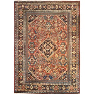 "Pasargad NY Antique Persian Mahal Lamb's Wool Rug - 8'7"" X 12'5"" For Sale"