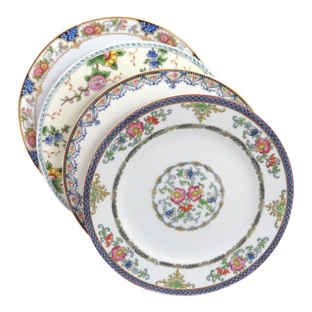 Vintage Mismatched Luncheon Plates - Set of 4 - Image 1 of 8