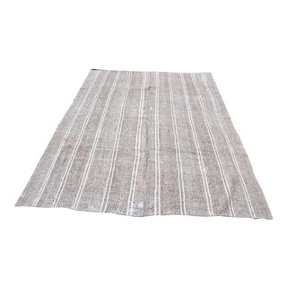 Turkish Stripe Kilim Rug - 6′5″ × 8′2″