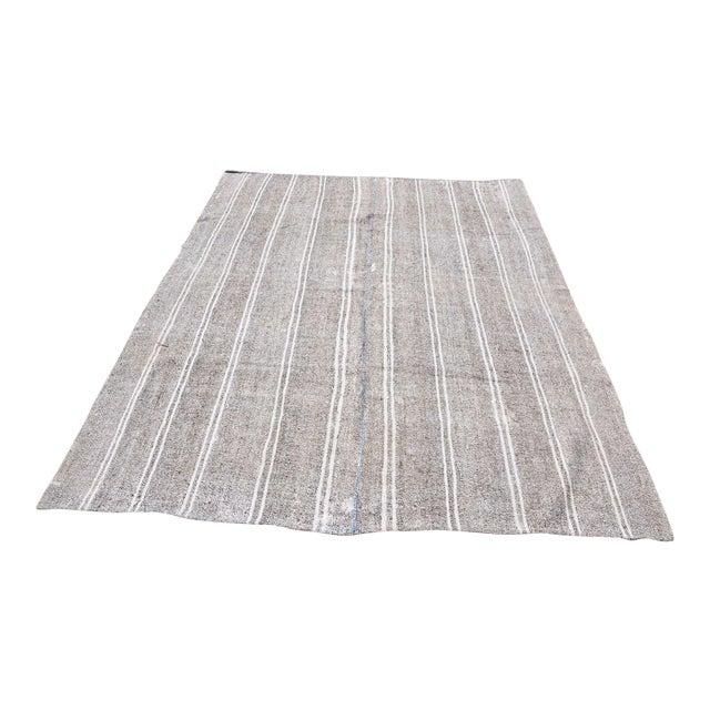Turkish Stripe Kilim Rug - 6′5″ × 8′2″ For Sale