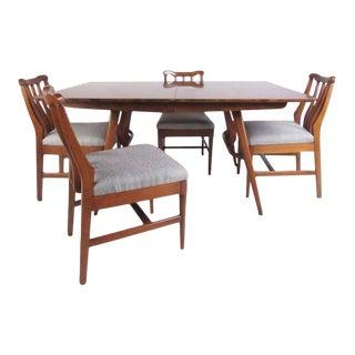 Vintage Modern Sculptural Walnut Dining Room Set For Sale