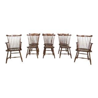 Set of 8 Stickley Cherry Valley Windsor Dining Room Chairs For Sale