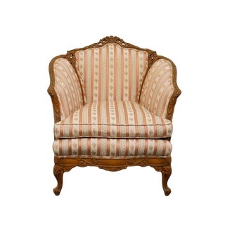 1920's Antique Louis XVI Carved Parlor / Accent Chair For Sale