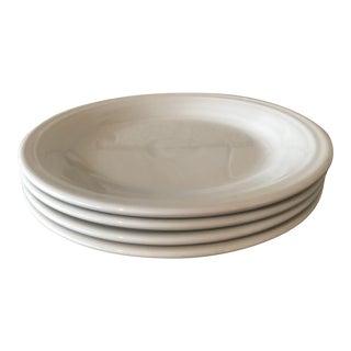 Classic White Fiestaware Dinner Plates - Set of 4