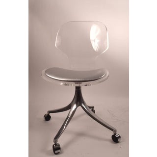 Lucite Swivel Dining Chairs by Hill Manufacturing Company Preview