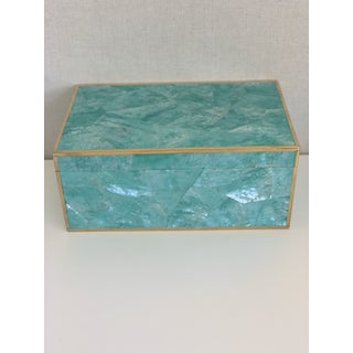 Made Goods Contemporary Turquoise Shell Erin Box Preview