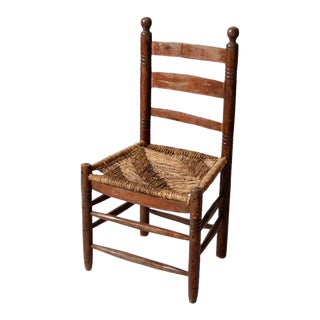 Antique Mexicana Rush Seat Chair