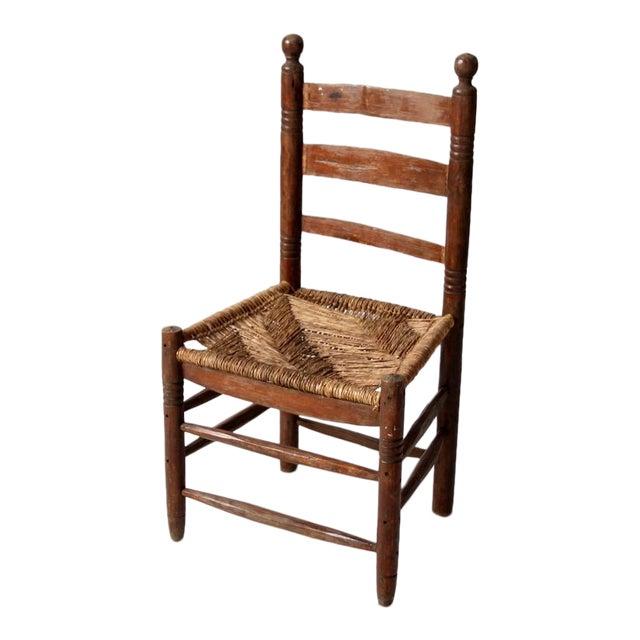 Antique Mexicana Rush Seat Chair - Antique Mexicana Rush Seat Chair Chairish