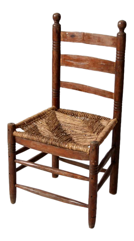 Antique Mexicana Rush Seat Chair  sc 1 st  Chairish & Antique Mexicana Rush Seat Chair | Chairish