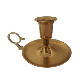 Solid Brass Candle Holder For Sale