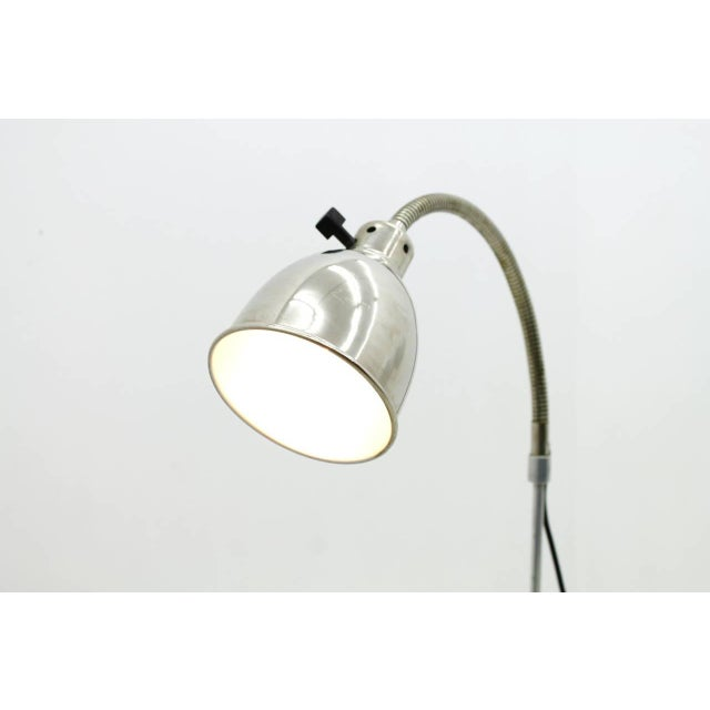 Christian Dell Floor Lamp With Gooseneck 1930s For Sale - Image 6 of 9