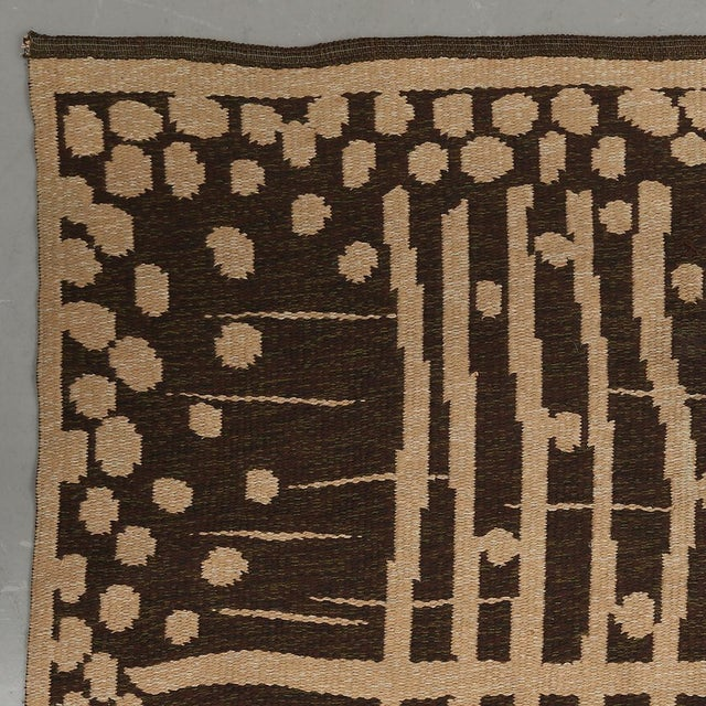 """Vintage Double Sided Swedish Rollakan Carpet - 4'1"""" X 6'3"""" - Image 4 of 7"""
