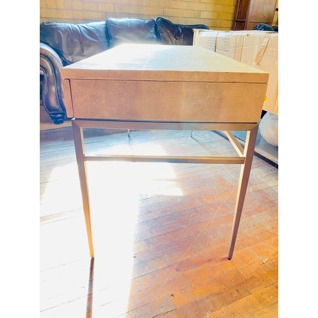 Mitchell Gold Bob Williams Solange Writing Desk has clean lines and a modern look with textured top and 3 drawers it's as...