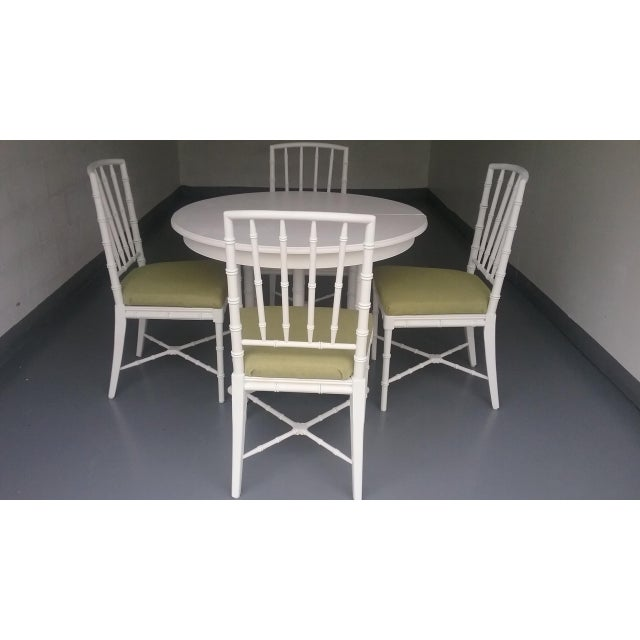 Drexel Faux Bamboo Chinese Chippendale Dining Set | Chairish