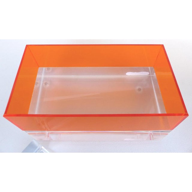 2010s Custom Lucite Trinket/Jewelry Box For Sale - Image 5 of 6