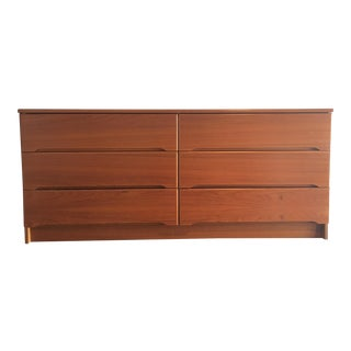 Danish Mid-Century Teak 6-Drawer Dresser