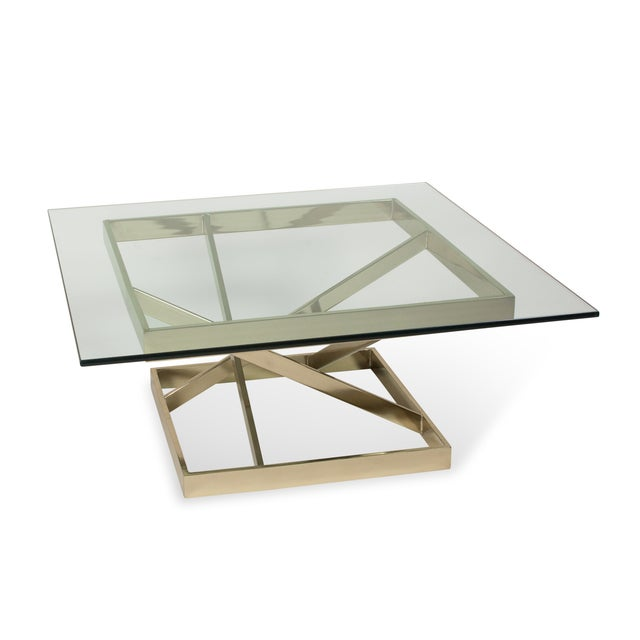 1980s Intersecting Angles Coffee Table - Image 9 of 9