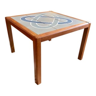 Danish Modern Teak Tile Top Occasional Table For Sale