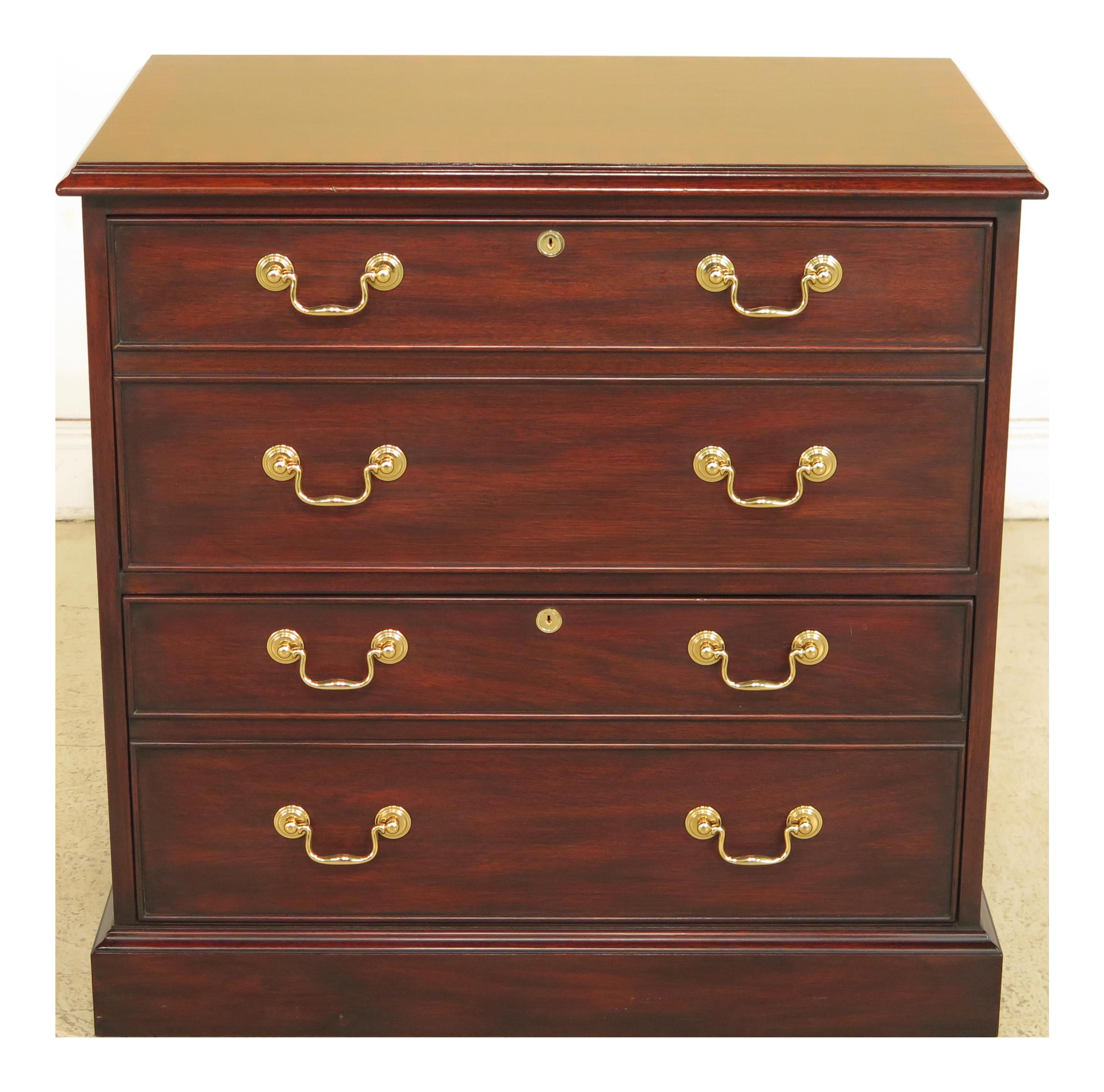 Henkel Harris Moore 2 Drawer Mahogany File Cabinet