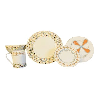 The Jubilee Collection, Five Piece White Porcelain Place Setting by Natalie Annette