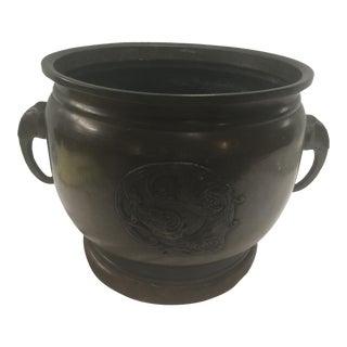Antique Bronze Japanese Censer Brazier For Sale