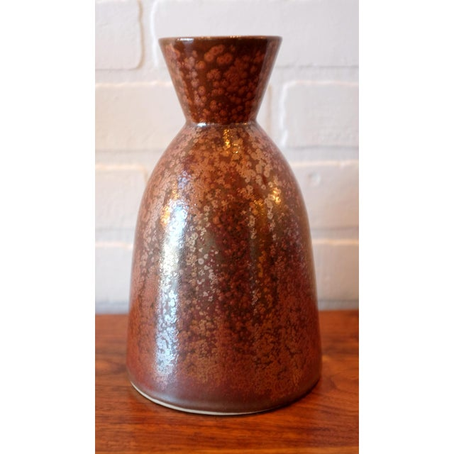 Contemporary Unique Red Glaze Studio Pottery Ceramic Vessel For Sale - Image 3 of 5